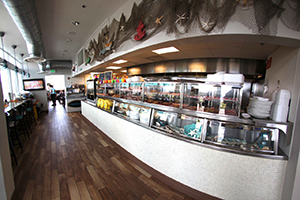 Deerfield Beach Cafe inside showing counters