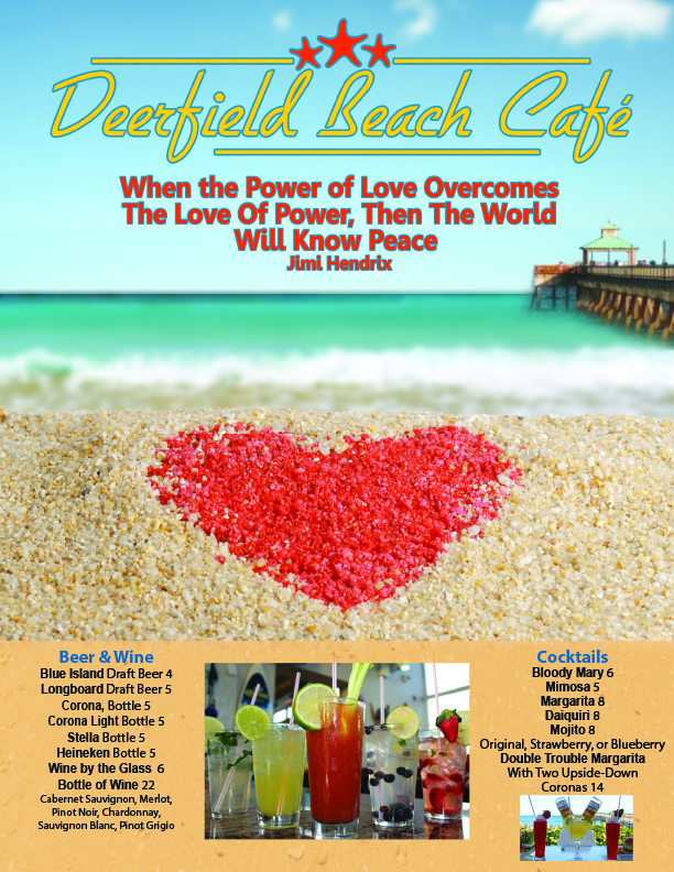 Deerfield Beach Cafe Feb Menu Cover