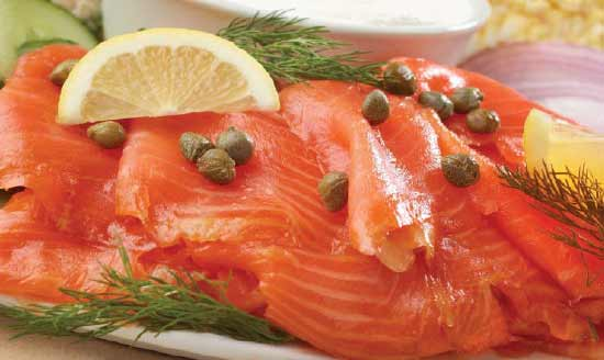 Sliced Nova Salmon Platter